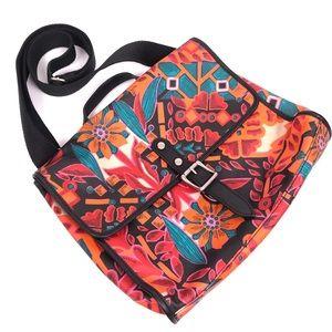 FOSSIL Key Per Flap Floral Messenger Crossbody Bag